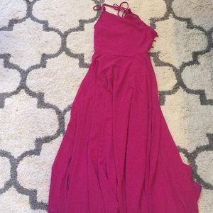 Pink lulus dress small satin